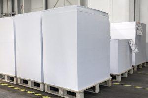 Papierbogen vorbereitet für die Produktion