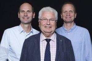 Die Geschäftsführung: Dieter Beisner mit seinen Söhnen Helge und Hauke
